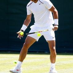 Tennis - Wimbledon Preview - All England Lawn Tennis and Croquet Club, London, Britain - June 30, 2018 Spain's Rafael Nadal during practice REUTERS/Peter Nicholls