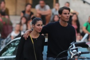 Rafael Nadal and girlfriend Maria Francisca Perello in Paris 2018
