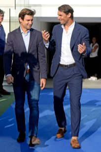 Rafa Nadal and David Ferrer during graduation ceremony Rafa Nadal Academy in Manacor, Mallorca on Tuesday 11 June 2019.