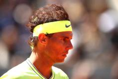 PARIS, FRANCE - JUNE 07: Rafael Nadal of Spain during his mens singles semi-final match against Roger Federer of Switzerland during Day thirteen of the 2019 French Open at Roland Garros on June 07, 2019 in Paris, France. (Photo by Clive Brunskill/Getty Images)