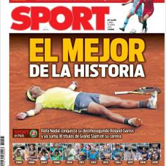 Rafael Nadal's Roland Garros Victory On Newspaper Front Pages (13)