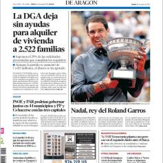 Rafael Nadal's Roland Garros Victory On Newspaper Front Pages (32)