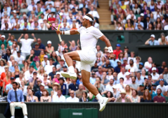 LONDON, ENGLAND - JULY 04: Rafael Nadal of Spain celebrates after winning the third set in his Men's Singles second round match against Nick Kyrgios of Australia during Day four of The Championships - Wimbledon 2019 at All England Lawn Tennis and Croquet Club on July 04, 2019 in London, England. (Photo by Clive Brunskill/Getty Images)