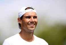 Tennis - Wimbledon - All England Lawn Tennis and Croquet Club, London, Britain - July 11, 2019 Spain's Rafael Nadal during practice REUTERS/Carl Recine