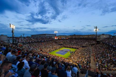 MONTREAL, QC - AUGUST 09: General view of IGA Stadium during the ATP Coupe Rogers quarterfinal match on August 9, 2019 at IGA Stadium in Montréal, QC (Photo by David Kirouac/Icon Sportswire via Getty Images)