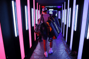 GENEVA, SWITZERLAND - SEPTEMBER 19: Rafael Nadal of Team Europe walks out for a practice session ahead of the Laver Cup 2019 at Palexpo on September 19, 2019 in Geneva, Switzerland. The Laver Cup will see six players from the rest of the World competing against their counterparts from Europe. Team World is captained by John McEnroe and Team Europe is captained by Bjorn Borg. The tournament runs from September 20-22. (Photo by Clive Brunskill/Getty Images for Laver Cup)
