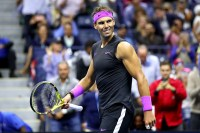 NEW YORK, NEW YORK - SEPTEMBER 06: Rafael Nadal of Spain celebrates after winning his Men's Singles semi-final match against Matteo Berrettini of Italy on day twelve of the 2019 US Open at the USTA Billie Jean King National Tennis Center on September 06, 2019 in the Queens borough of New York City. (Photo by Clive Brunskill/Getty Images)