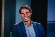 MADRID, SPAIN - OCTOBER 09: Rafa Nadal attends '42Madrid', the programming campus without classes, without teachers and without books that Fundación Telefónica has just opened at Fundacion Telefonica' on October 09, 2019 in Madrid, Spain. (Photo by Abraham Caro Marin/Getty Images)