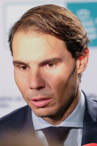 Rafael Nadal pose upon arrival at the dinner event for the Davis Cup in Madrid, Spain, 16 November 2019. The 2019 Davis Cup finals will take place from 18 to 24 November 2019 in Madrid. (Photo by Oscar Gonzalez/NurPhoto via Getty Images)