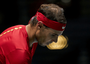 MADRID, SPAIN - NOVEMBER 22: Rafael Nadal of Spain during the quarter final singles match between Argentina and Spain during Day Five of the 2019 Davis Cup at La Caja Magica on November 22, 2019 in Madrid, Spain. (Photo by fotopress/Getty Images)