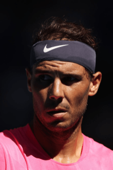 MELBOURNE, AUSTRALIA - JANUARY 25: Rafael Nadal of Spain looks on during his Men's Singles third round match against Pablo Carreno Busta of Spain on day six of the 2020 Australian Open at Melbourne Park on January 25, 2020 in Melbourne, Australia. (Photo by Clive Brunskill/Getty Images)