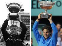 Bjorn Borg 6. Rafael Nadal 6. A 25 ans, le natif de Manacor égale le record de victoires à Roland-Garros de la légende suédoise.