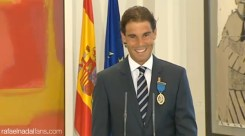 Rafael Nadal receives the Gold Medal of Merit in Work