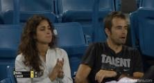 Rafael Nadal girlfriend Maria Francisca Perello and physio Rafael Maymo in Cincinnati 2015