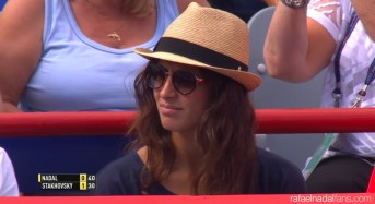 Rafael Nadal girlfriend Maria Francisca Perello at Rogers Cup in Montreal 2015