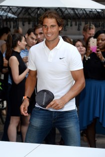NEW YORK, NY - AUGUST 27: Rafael Nadal joins The New York Palace for a Courtyard Cocktail Celebration at The New York Palace Hotel on August 27, 2015 in New York City. (Photo by Ben Gabbe/Getty Images for The New York Palace)