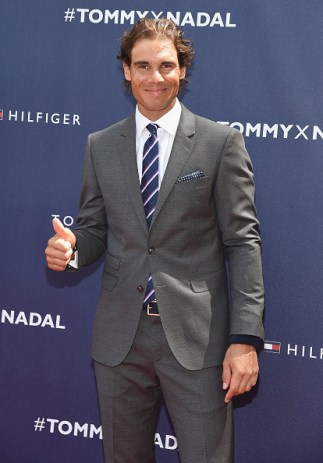 NEW YORK, NY - AUGUST 25: Tommy Hilfiger global brand ambassador, tennis champion Rafael Nadal attends the Tommy Hilfiger And Rafael Nadal Launch Global Brand Ambassadorship at Bryant Park on August 25, 2015 in New York City. (Photo by Gary Gershoff/WireImage)