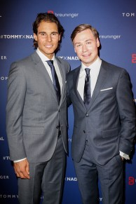 STUTTGART, GERMANY - NOVEMBER 10: Rafael Nadal and David Kross attend the Tommy Hilfiger X Rafael Nadal @ Breuninger on November 10, 2015 in Stuttgart, Germany. (Photo by Franziska Krug/Getty Images for Tommy Hilfiger)