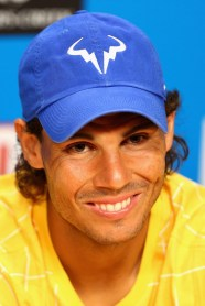 Rafael Nadal of Spain speaks to media during a press conference ahead of the 2016 Australian Open at Melbourne Park on January 16, 2016 in Melbourne, Australia. (Robert Prezioso/Getty Images AsiaPac)