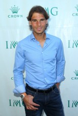 Rafael Nadal of Spain arrives at the 2016 Australian Open party at Crown Entertainment Complex on January 17, 2016 in Melbourne, Australia. (Graham Denholm/Getty Images AsiaPac)