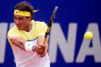 El tenista español Rafael Nadal ante el austríaco Dominic Thiemi hoy, sábado 13 de febrero de 2016, durante un partido de semifinales del torneo ATP de Buenos Aires (Argentina). EFE/Juan Ignacio Roncoroni