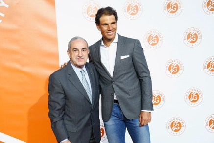 PARIS, FRANCE - MAY 19: Rafael Nadal and Jean Gachassin attend the Roland Garros Players' Party at Grand Palais on May 19, 2016 in Paris, France. (Photo by Julien Hekimian/Getty Images)