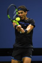 Rafael Nadal of Spain returns a shot to Andrey Kuznetsov of Russia during his third round Men's Singles match on Day Five of the 2016 US Open at the USTA Billie Jean King National Tennis Center on September 2, 2016 in the Flushing neighborhood of the Queens borough of New York City. (Sept. 1, 2016 - Source: Mike Hewitt/Getty Images North America)