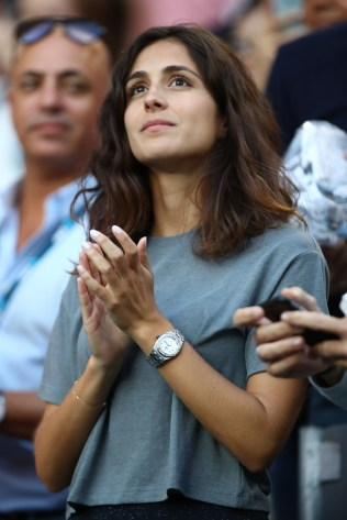 Xisca Perello, girlfriend of Rafael Nadal of Spain watches him play his third round match against Alexander Zverev of Germany on day six of the 2017 Australian Open at Melbourne Park on January 21, 2017 in Melbourne, Australia. (Jan. 20, 2017 - Source: Clive Brunskill/Getty Images AsiaPac)
