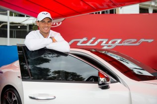 Rafael Nadal at the Kia fleet handover, 15 January 2017. - Fiona Hamilton/Tennis Australia