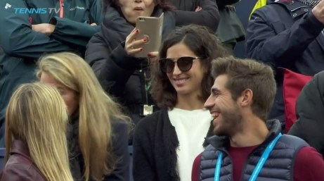 Rafael Nadal girlfriend novia Maria Francisca Perello Barcelona Open final 2017