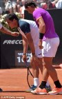 Rafael Nadal advances in Rome as Nicolas Almagro quits (2)