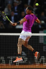 Rafael Nadal of Spain in action during the men's third round match against Jack Sock of USA on Day Five of the Internazionali BNL d'Italia 2017 at the Foro Italico on May 18, 2017 in Rome, Italy. (May 17, 2017 - Source: Michael Steele/Getty Images Europe)