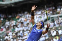 Spain's Rafael Nadal serves the ball to Netherlands' Robin Haase during their tennis match at the Roland Garros 2017 French Open on May 31, 2017 in Paris. / AFP PHOTO / Eric FEFERBERG (May 30, 2017 - Source: AFP)