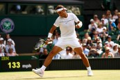 LONDON, ENGLAND - JULY 07: Rafael Nadal of Spain celebrates during the Gentlemen's Singles third round match between Karen Khachanov of Russia on day five of the Wimbledon Lawn Tennis Championships at the All England Lawn Tennis and Croquet Club on July 7, 2017 in London, England. (Photo by Michael Steele/Getty Images)