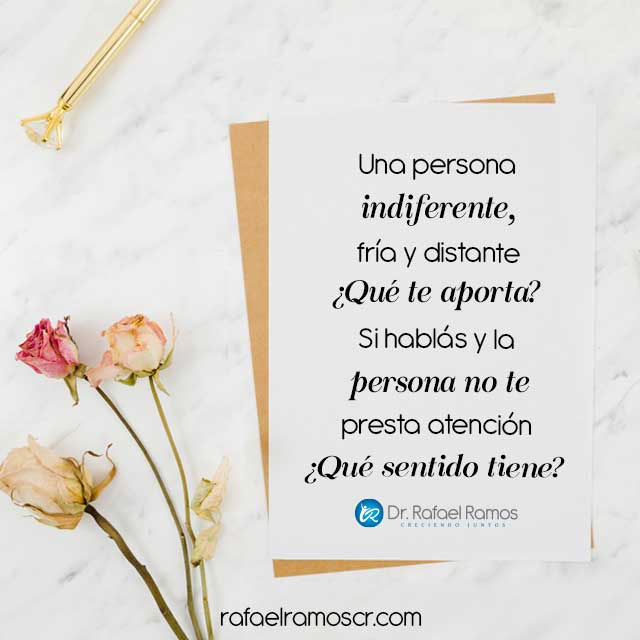 ¿Vos sos una persona indiferente?