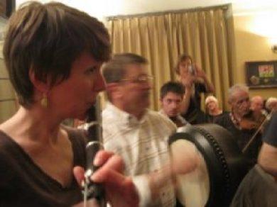 Nancy Schneeloch-Bingham with Padraig O'Morain