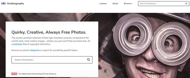 Banco de imágenes gratuito Gratisography