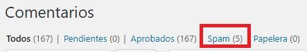 Comentarios Spam en WordPress