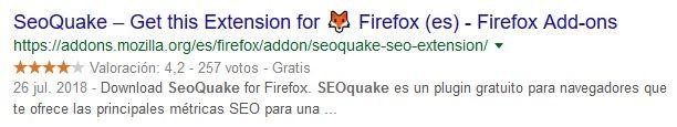 Addon Mozilla Firefox SEOquake
