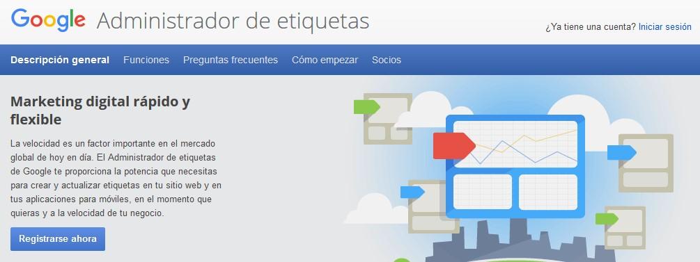 Registro Google Tag Manager