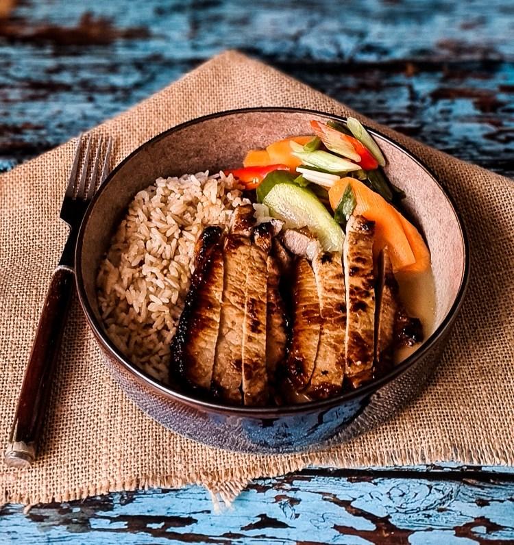 Warzywa ryz wieprzowina