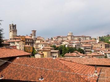 Widok na Bergamo