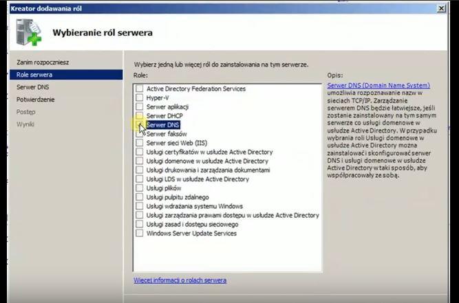 Serwer DNS - instalacja, konfiguracja i testowanie w Windows Server 2008R2