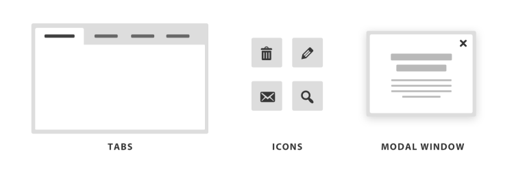 These are some popular UI elements that most users are familiar with.