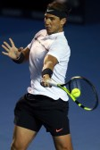 ACAPULCO, MEXICO - March 04: Rafael Nadal (SPA) returns the ball during the Final match between Sam Querrey (USA) and Rafael Nadal (SPA) as part of the Abierto Mexicano Telcel 2017 at the Fairmont Acapulco Princess on March 04, 2017 in Acapulco, Mexico. (Photo by Miguel Tovar/LatinContent/Getty Images)