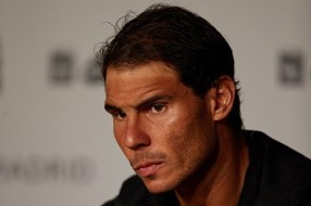 May 8th 2017, Caja Magica, Madrid, Spain; Mutua Madrid Open tennis tournament; Rafa Nadal of Spain during a press conference (Photo by David Aliaga/Action Plus via Getty Images)