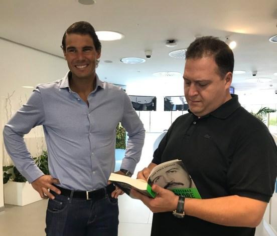 Rafa Nadal with Juan Pablo Escobar