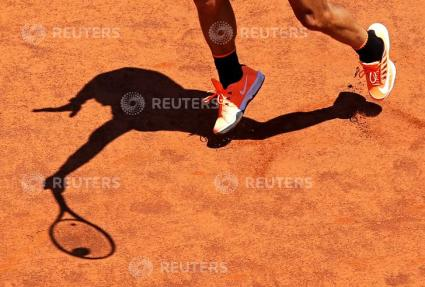 Tennis - ATP - Rome Open - Rafael Nadal of Spain v Nicolas Almagro of Spain - Rome, Italy - 17/5/17 - Nadal returns the ball. REUTERS/Max Rossi