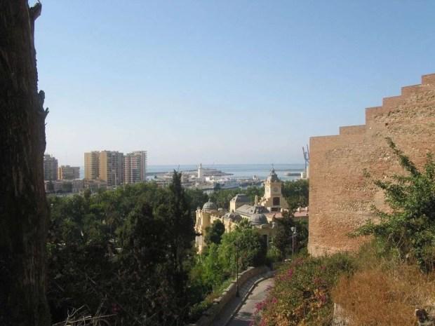 Cosa fare gratis a Malaga: vista da Gibralfaro