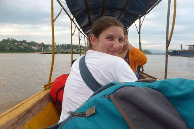 Viaggio Thailandia e Laos confine tra Thailandia e Laos, Chiang Kong/ Houay Xai